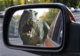specchietto dinosauro